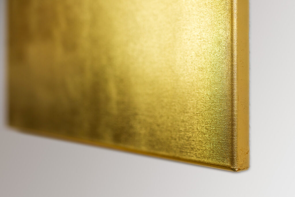 Goldbild - echtes Blattgold auf Leinwand. 50 x 60 cm. Detail