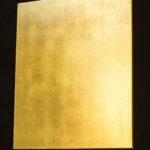 Goldbild - echtes Blattgold auf Leinwand. 50 x 60 cm. Seite