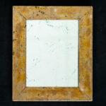 Silberspiegel mit versilbertem Eichenrahmen, oxidiert. Vorne